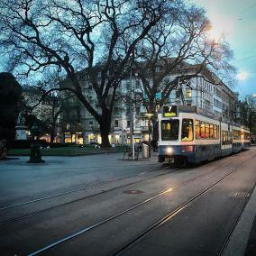 Bahnhofstrasse by Nightfall
