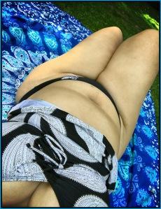 Bild einer fetten Frau im Bikini.
