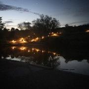 Irchelpark in der Morgendämmerung