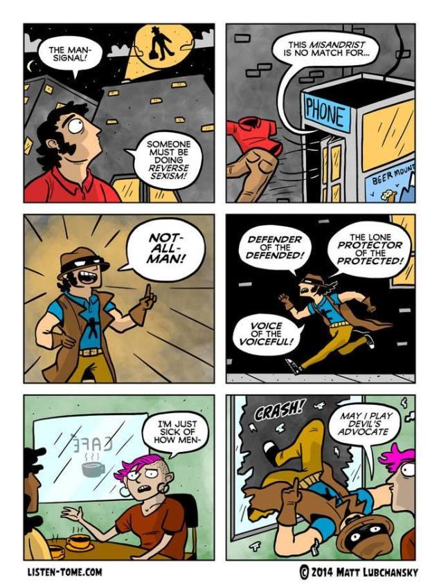 """Webcomic über """"Not-All-Man"""", Beschützer der Beschützten. (c) Matt Lubchansky"""
