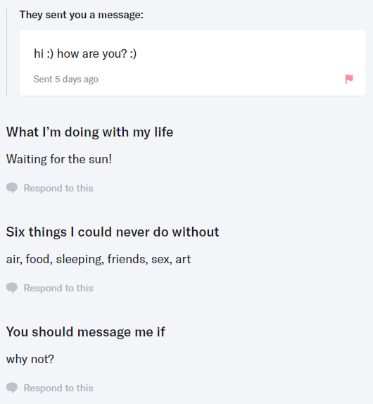 screenshot of a OKCupid user profile
