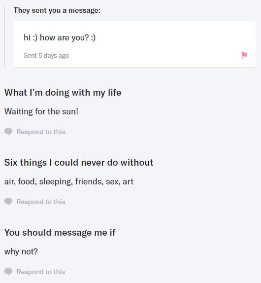 screenshot of a OKCupid user profile