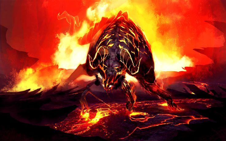 flaming bull