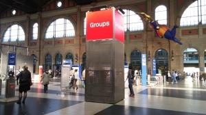 Gruppentreffpunkt im Hauptbahnhof Zürich