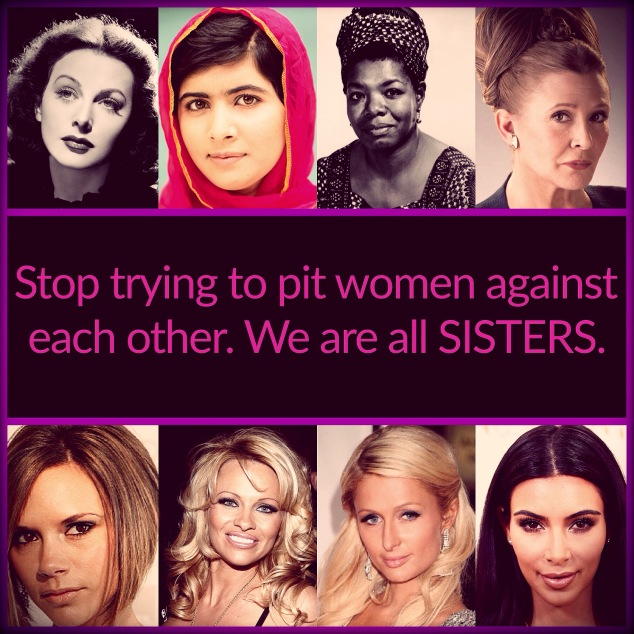 A picture of Hedy Lamarr, Malala, Maya Angelou, Carrie Fisher, Victoria Beckham, Pamela Anderson, Paris Hilton, and Kim Kardashian