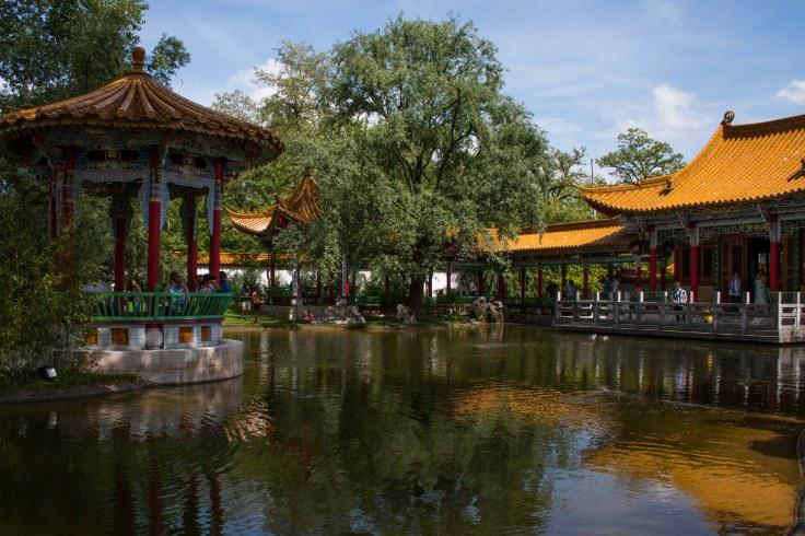 Pavillons im Chinagarten in Zürich