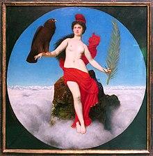 """Das Gemälde """"Die Freiheit (Helvetia)"""" von Arnold Böcklin, 1891."""