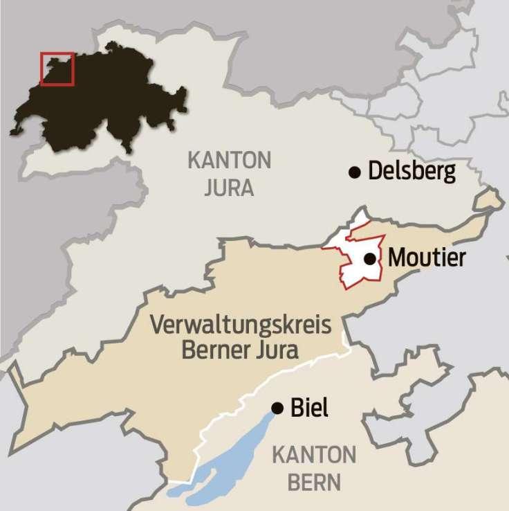 Karte des Kantons Jura und des Verwaltungskreises Berner Jura.