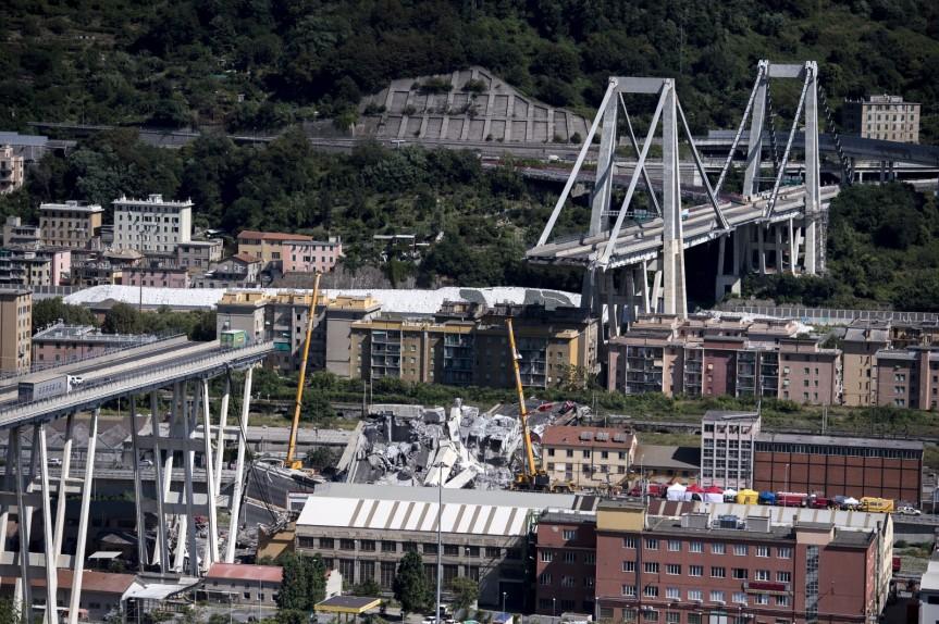 der eingestürzte Ponte Morandi