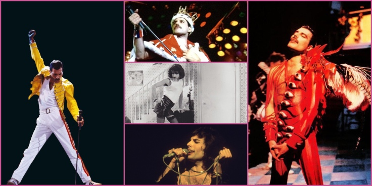 Five pictures of Freddie Mercury
